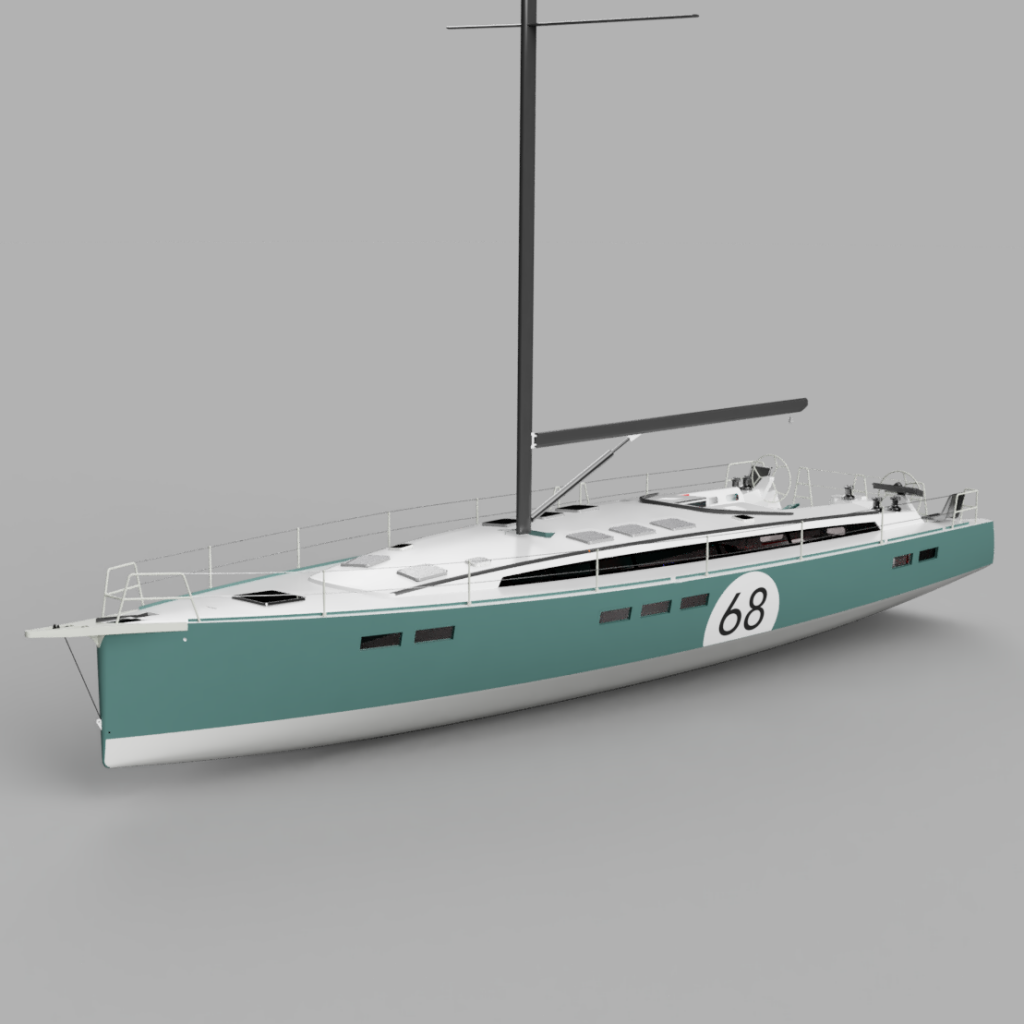 INDININI 60 foot sailboat